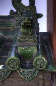 Temple of Heaven - Tile roof Sculpture, Beijing, China bmbborupphotography