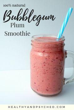 "flavorking plum smoothie - tastes like bubblegum milkshake"" It's vegan, refined sugar free and 100% natural."