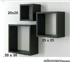 For the living room. Unique Wall Shelves, Box Shelves, Floating Wall Shelves, Wall Shelves Design, Decor Crafts, Diy Home Decor, Wall Cubes, Interior Design Guide, New Bedroom Design
