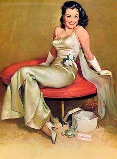 Alluringly elegant indeed! #vintage #art #glamorous