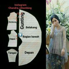 24 Best Ideas For Sewing Blouse Diy Kebaya Lace, Kebaya Hijab, Kebaya Brokat, Kebaya Dress, Batik Kebaya, Kebaya Muslim, Batik Dress, Dress Brokat, Designer Blouse Patterns