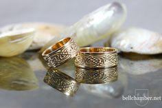 Kells Triskeles Celtic Gold Rings