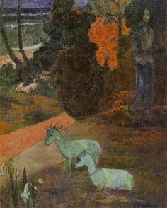 Landscape with two goats 1897 Paul Gauguin