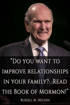 """The Book of Mormon was written, in part, to help heal torn family relationships. Elder Russell M. Nelson taught, """"Do you want to improve relationships in your family? Do you want to increase your spiritual capacity? Read the Book of Mormon!"""" Read how the Book of Mormon helps families at https://knowhy.bookofmormoncentral.org/content/how-can-the-book-of-mormon-strengthen-marriages-and-families #Family #LDS #ShareGoodness #Mormon #BookofMormon #Comfort"""