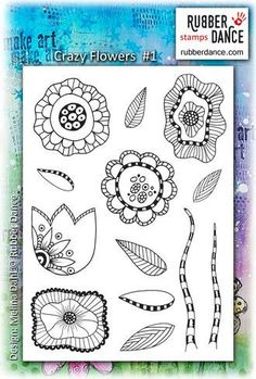 New in store is Crazy Flowers #2 stamps from Rubber Dance Stamps