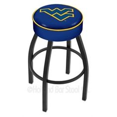 West Virginia Mountaineers Bar Chair Seat Stool Barstool