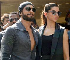 Ranveer Singh and Deepika Padukone at Bajirao Mastani promotions