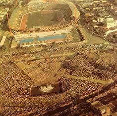 Parque de las banderas en los VI Juegos Panamericanos de 1971.
