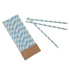 Blue Stripe Paper Straws. Featured in Wall Street Journal (Europe Edition).