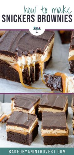 Combining brownies with a classic Snickers bar results in an incredible dessert experience.