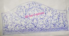 Hand Embroidery Design Patterns, Aari Embroidery, Hand Embroidery Flowers, Designer Blouse Patterns, Saree Kuchu Designs, Best Blouse Designs, Hand Designs, Paper Design, Tapestry