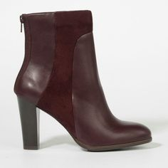 Charles & keith. 2014 FW. Bugundy colored ankle boots.