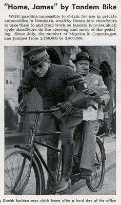 bicycle chauffeur Popular Science – Dec, 1940 | Modern Mechanix