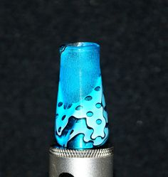Blue White Black Transparent Custom Handmade WIDE Bore Drip Tip. Gallery Tips on FB https://www.facebook.com/gallerytips #driptips #driptip #vape #ecigs