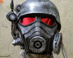 Fallout New Vegas NCR Ranger cosplay mask complete with helmet, lenses, and LED.