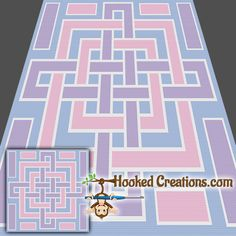 A Square Knot SC Throw Blanket Crochet Pattern - PDF Download