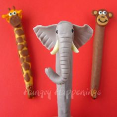The adorable Jungle Book Pretzel Pops are edible! Edible crafts for kids are too cool.