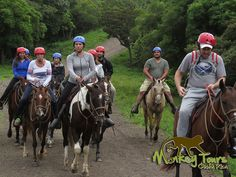 Guided tour group on their horseback riding adventure in Borinquen, Rincon de la Vieja, while on a Costa Rica and Nicaragua trip... See more at: https://www.costaricamonkeytours.com/costa-rica-tour-25/