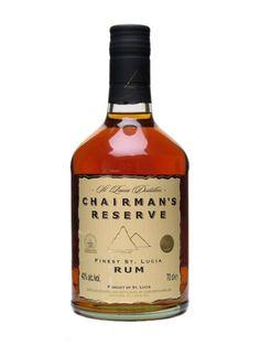 CHAIRMAN'S RESERVE FINEST ST.LUCIA rum 40% 70 cl www.wijn-sterkedranken.be