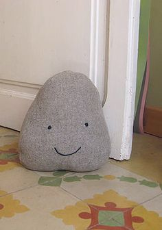 Rock Doorstop: Now, your doorstop can double as your pet rock! Source: Handmade by Charlotte