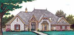 Elevation of European   House Plan 92233 www.customhomesmiller.com