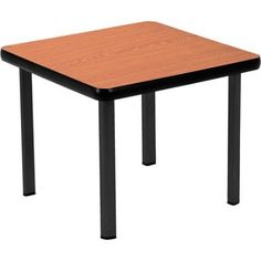 OFM End Table with 4 Legs, Cherry/Black, Brown