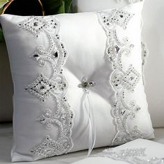 The Royal Lace Wedding Collection Ring Bearer Pillows, Ring Pillows, Ring Pillow Wedding, Wedding Pillows, Royal Wedding Themes, Sand Ceremony, Wedding Ceremony, Lace Ring, Cute Wedding Ideas