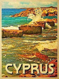 Vintage Travel Poster  - Cyprus  -.