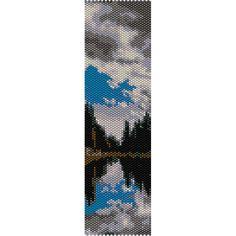 Lake 2 Peyote Bead Pattern, Bracelet Cuff Pattern, Bookmark Pattern, Seed Beading Pattern Miyuki Delica Size 11 Beads - PDF Instant Download by SmartArtsSupply on Etsy