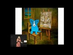"""Wendy Rodrigue reading """"Why Is Blue Dog Blue"""" to kids at 35 min 50 ec.  Great for Blue Dog dog drawing intro!"""