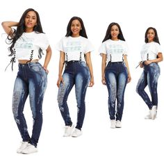 70632b2ff22 2019 Womens Ripped Destroyed Skinny Denim Jeans High Waist Pencil Pants  Slim Trousers Ladies Women Hole Jean Clothing From Hongzhang
