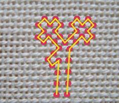 È possibile lavorare in orizzontale o in verticale, piuttosto che in diagonale, ma è meglio farlo solo per brevi tratti perchè altrimenti l'... Needlepoint, Friendship Bracelets, Neon Signs, Embroidery, Grande, Strands, Toss Pillows, Manualidades, Stitching