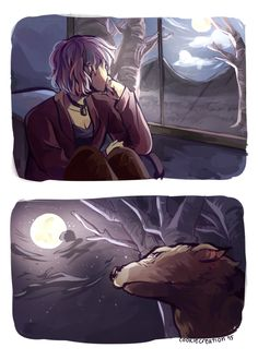 More gorgeous Remus and Tonks art - waiting at the window - art by cookiecreation on Tumblr.