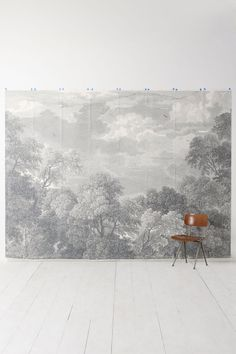 Etched Arcadia Mural (Anthropologie) i want an empty wall in my home just for this