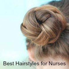 Steal these 10 styles to look and feel great on the job!   #Tutorial by Scrubs Magazine here: http://scrubsmag.com/the-10-best-hairstyles-for-nurses  #nurse #nursing #nurseonduty #nurselife #lifeofanurse #RN
