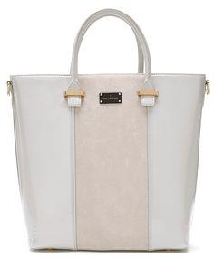 Paul's Boutique Natasha tote bag in half suede Stone. Online now || www.paulsboutique.com x
