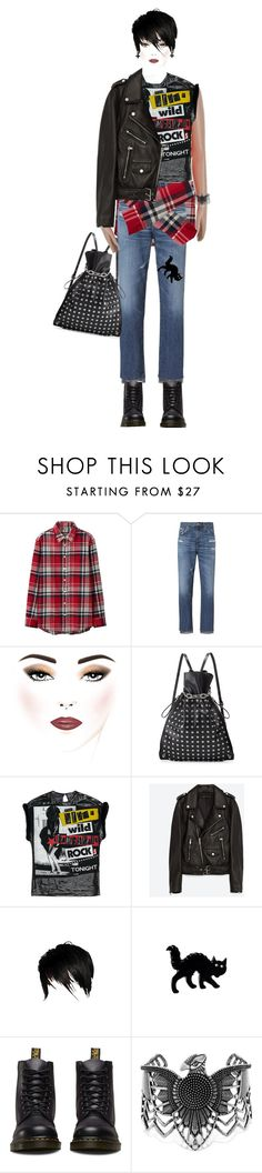 """""""Unbenannt #154"""" by yelo7705 ❤ liked on Polyvore featuring Uniqlo, AG Adriano Goldschmied, Alexander Wang, Jakke, Dr. Martens and Steve Madden"""