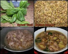 Mongo Soup with Potato & Basils