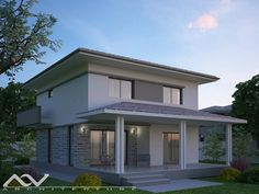 Model casa 195 Design Case, Modern Design, House Plans, House Design, How To Plan, Dining, House Styles, Board, Outdoor Decor