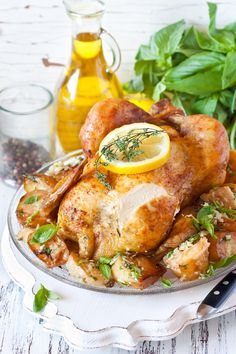 Lemon and Garlic Roast Chicken Recipe