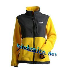 $64.4 The #North #Face Denali Jacket Yellow Black      #Yellow  #Womens #Sneakers