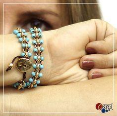 ¿Hermosa verdad? Aprende cómo hacer esta pulsera sofisticada y con un toque…