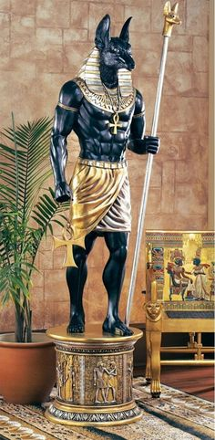 The Grand Ruler: Life-Size Anubis Sculpture.Anubis is jackal-headed god associated with mummification and the afterlife in ancient Egyptian religion. Egyptian Anubis, Ancient Egyptian Art, Pharoah Egyptian, Egyptian Kings, Anubis Statue, Ancient Egypt History, Ancient Aliens, Ancient Greece, Ancient Egypt Fashion