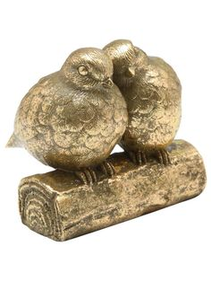 M Homeware 2 birds sat on a log Swallows, Vignettes, Bookends, Birds, House, Character, Home, Barn Swallow, Bird