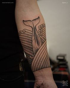 whale #tattoo #blackwork #linework