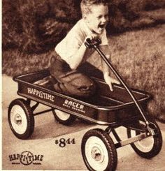 Ah, the iconic little red wagon!  The classics never go out of style!
