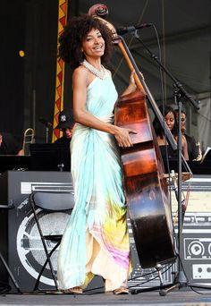 Esperanza Spalding at New Orleans Jazz Festival.