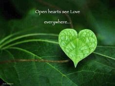 Open Your Heart and you'll see & feel Love everywhere!