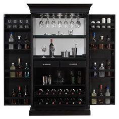 Эшли Heights черное пятно Главная Бар Винный шкаф | Overstock.com Корзина - самые лучшие цены на Бары