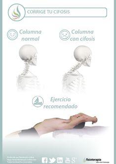 Corrige tu postura, corrige tu cifosis y mejora tus dolores de espalda Postural, Asana, Pilates, Cardio, Health Fitness, Alcohol, Gym, Workout, Relax